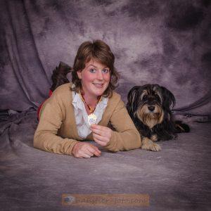 Grunja und Simone - Geweinnerin Hundecasting auf Hundemesse